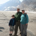 Brook, Cat and Asa on the Athabascan Glacier